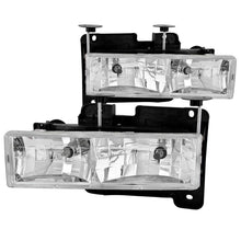Load image into Gallery viewer, ANZO 1988-1998 Chevrolet C1500 Crystal Headlights Chrome
