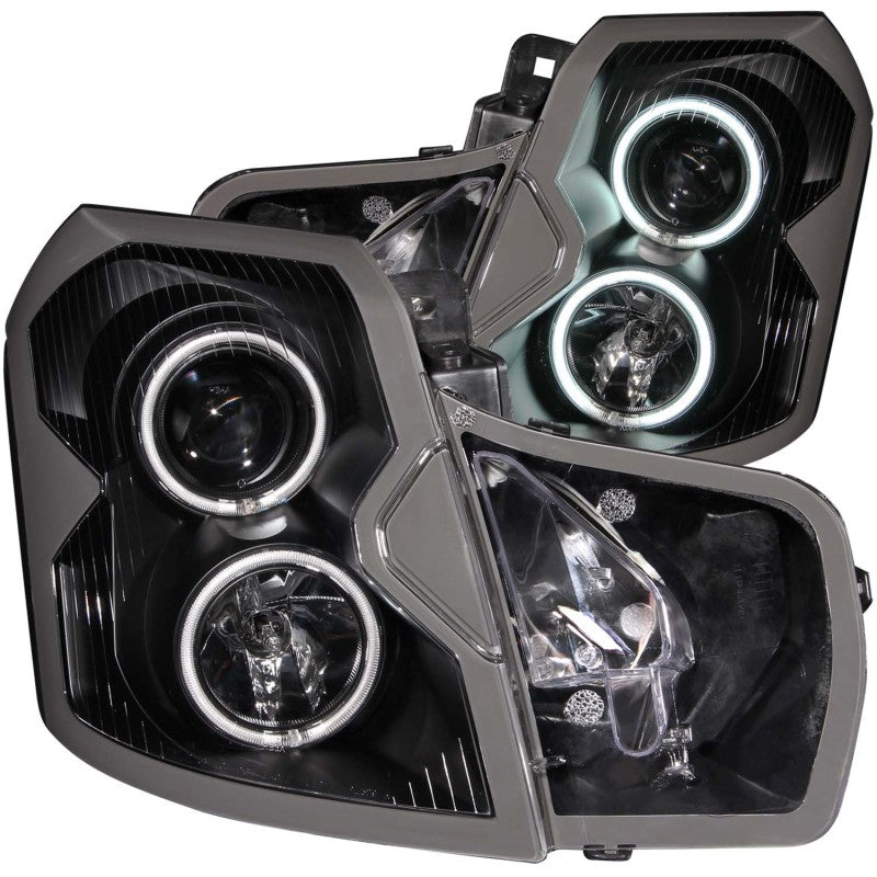 ANZO 2003-2007 Cadillac Cts Projector Headlights w/ Halo Black (CCFL)
