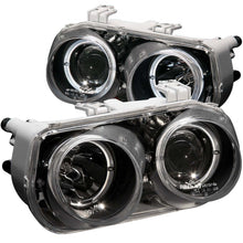 Load image into Gallery viewer, ANZO 1994-1997 Acura Integra Projector Headlights w/ Halo Black
