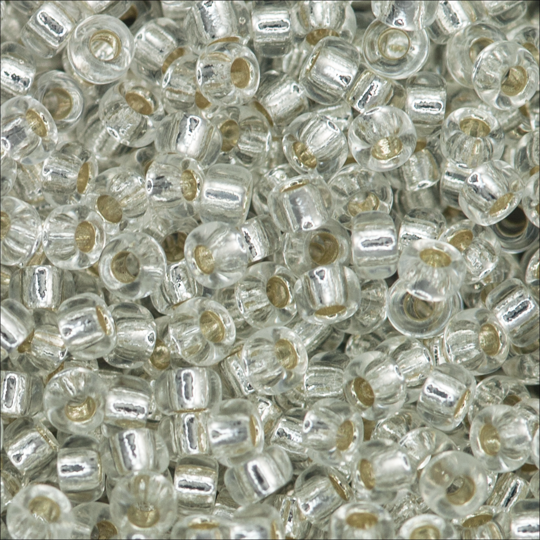 Miyuki Rocailles 15/0 0001 Crystal Silver Lined Qty:10g Tube