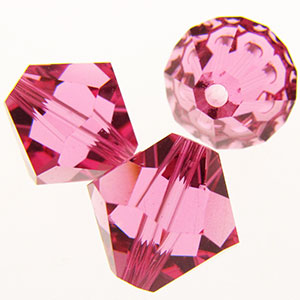 Swarovski Bicones 10mm #5328 Rose Qty:6