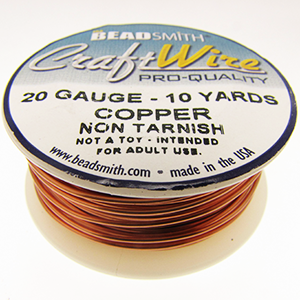 Craft Wire 20 Gauge Copper Qty:10 yds