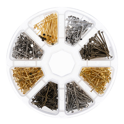 Findings Assortments with Storage Container Head Pins Qty: 1030 Pieces