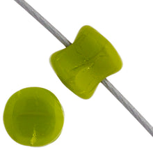 Load image into Gallery viewer, Czech Pellet Beads 4x6mm Olivine Alabaster Opaque Qty:44 Strung