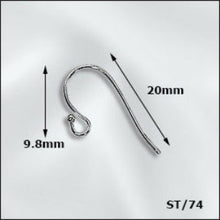 Load image into Gallery viewer, Stainless Steel Earwires with 1mm Ball Qty:12