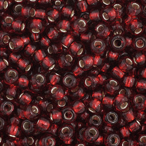 Czech Seedbeads 11/0 Dark Red Silverlined Qty: 23g