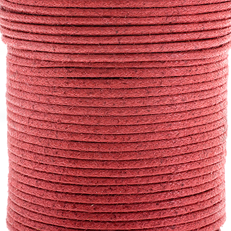 Cotton Cord 1mm Italian Red Quantity:25m spool