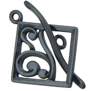 Gunmetal Toggle Scrolling Square 17mm Qty:1