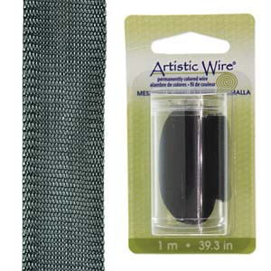 Artistic Wire Mesh Black 18mm *D* Qty: 1 meter