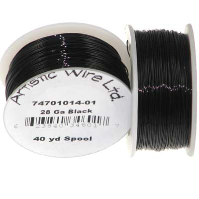Artistic Wire 28 Gauge Black Qty:40 Yd Spool