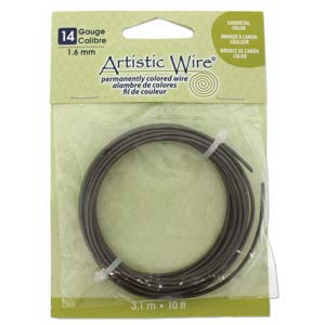 Artistic Wire 14 Gauge Gunmetal/Antique Brass Qty:10 ft pack