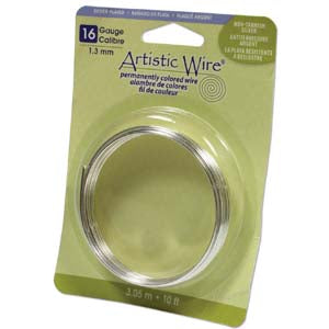 Artistic Wire 16 Gauge Non-Tarnish Silver Qty:10 ft bag