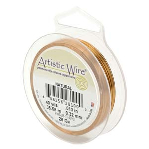 Artistic Wire 24 Gauge Natural Copper Qty:20 Yd Spool