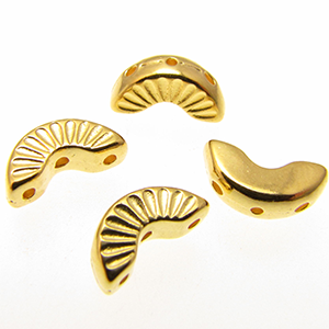 Arcos Bead Substitute 'Tholos' 24k Gold Plated Qty: 4