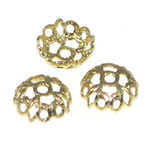 Gold Color Bead Caps 6mm Lace Qty:20