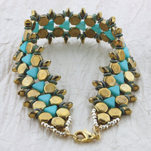 'Honeycomb Path' Bracelet Kit by Leslie Rogalski for The BeadSmith