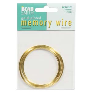 Memory Wire Gold Plate 2-1/4inch (Bracelet Size) Qty:12 Turns