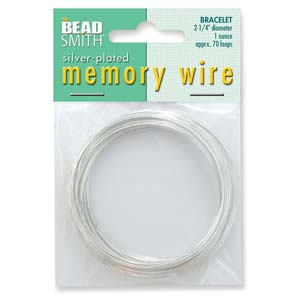Memory Wire Silver Plate 2-1/4inch (Bracelet Size) Qty:70 Turns