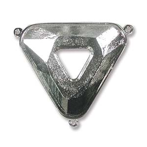 Connector 30mm for Cosmic Triangle 3 Ring Br. Silver Plate *D* Qty:1