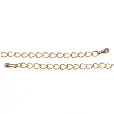 Gold Plated Extender Chain 3 inches Qty:2