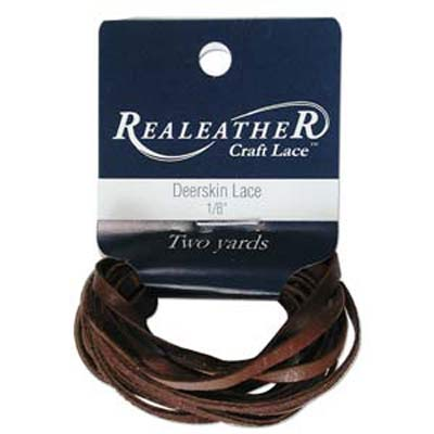 Deerskin Lace 1/8 inches  Chocolate Qty:2 Yards