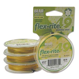 Flexrite Metallic Satin Gold 49 Strands .014