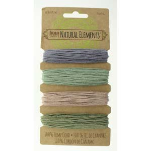 Hemp Vintage Colors Card by The Beadsmith 1mm 20lb Qty:120 feet