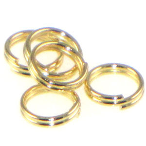 Gold Plated Split Rings 6mm Qty:100