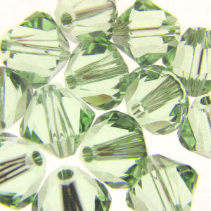 Swarovski 5328 Bicones 6mm Chrysolite Qty:12