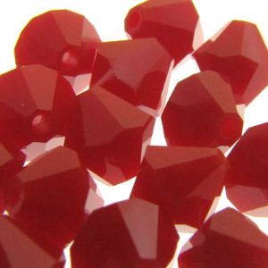 Swarovski Bicones 6mm Dark Red Coral Qty:12