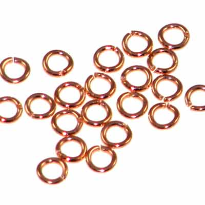 Bright Copper Jump Rings Open 4mm Outside Diameter 20 Gauge Quantity:100