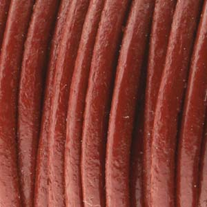 Leather Cord 1.5mm Brick Quantity:1yd
