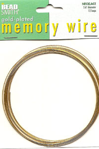 Memory Wire Gold Plate Necklace 12 Turns *D*