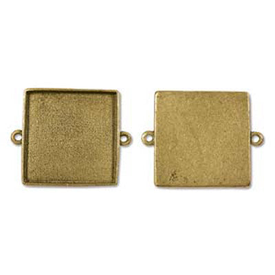 Patera Grande Links Square 34X41.7mm Antique Gold Qty:1