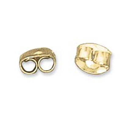 Gold Plated Economy Earring Backings Qty:50