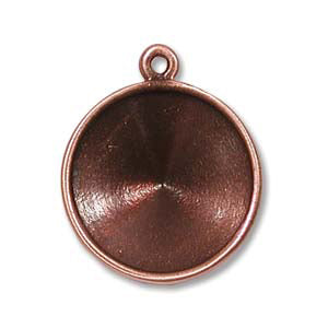 Pendant for 14mm Rivoli Copper Plated by TierraCast Qty:1