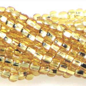 Czech Seedbeads 6/0 Straw Gold Silverlined Qty:Approx. 65g