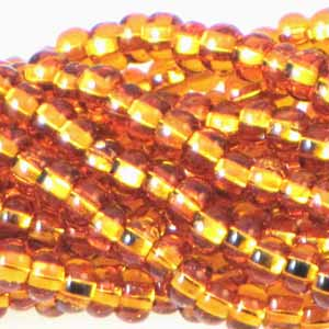 Czech Seedbeads 6/0 Topaz Silverlined Qty:Approx. 70g
