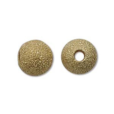 Gold Plated Beads Round Stardust 08mm Qty:24