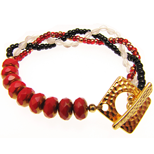 'Sunshine Dreams' Bracelet Kit in Relaxed Red by The Beading Room
