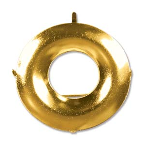 Shower Part Donut Pin Backing 38mm Gold Plate *D* Qty:2
