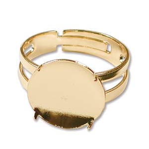 Shower Part Disc Ring 14mm Gold Plate Qty:2
