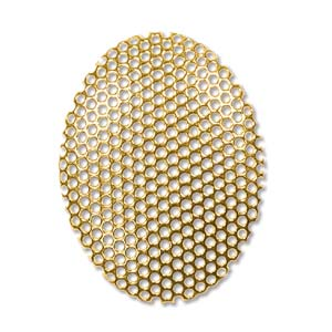 Shower Part Oval 22X30mm Gold Plate *D* Qty:2