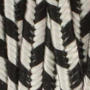 Soutache Cord Rayon Silver Grey & Black Stripe Qty: 1 yd