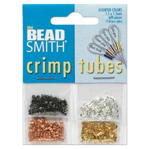Assorted Colors Crimp Tubes 1.5x1.5mm Qty:Pack of 600