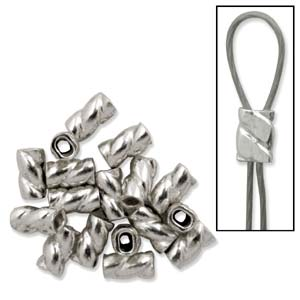 Sterling Silver Crimps Twisted for .014-.019 Inch Wire Qty:10