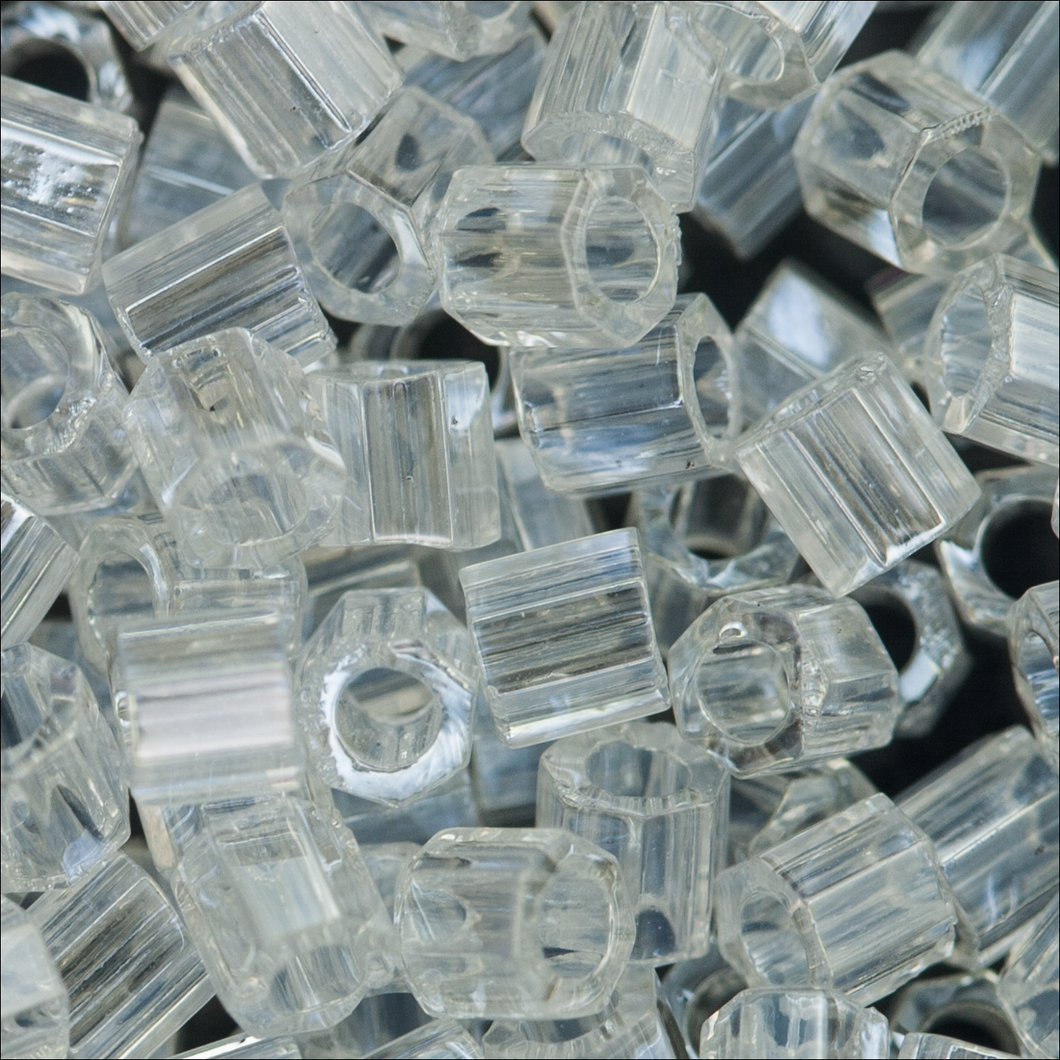 Miyuki Hex Cut Delicas 8/0 DBLC0050 Crystal Transparent Lustre Qty:5g Tube
