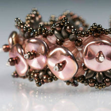 Load image into Gallery viewer, Czech Ripple Beads by Preciosa 12mm Silk Matte Cyclamen Qty:18