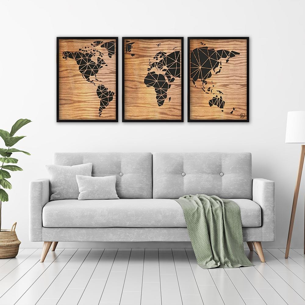 The World Map - Tryptic