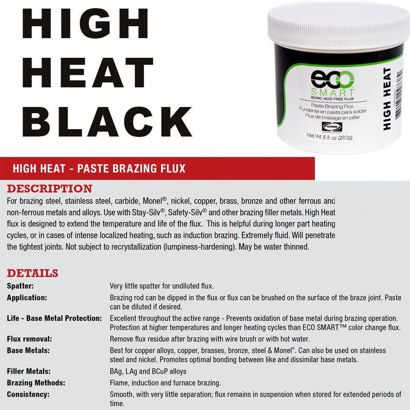 Harris Eco Smart Black Paste Brazing Flux - ESF250PB - Made in USA - Boric Acid Free